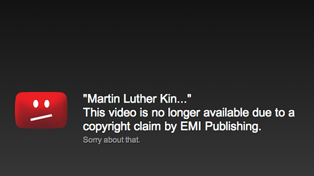 Why You Won't See Martin Luther King Jr's 'I Have a Dream' Speech on YouTube