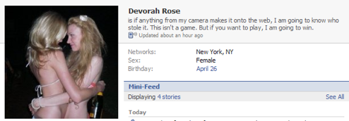 Person Who Stole Devorah Rose's Camera Can Run, But They Can't Hide