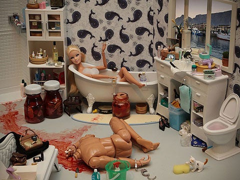 """Bad Barbie"" Stars In Bloody Photoshoot"