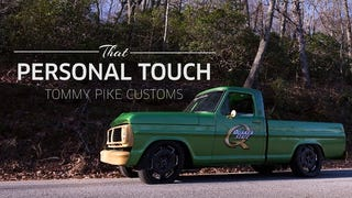A CTS-V Powered Ford F-100 Is An Awesome Way To Advertise Your Shop