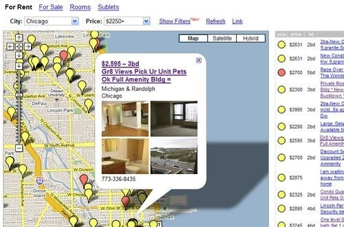 HousingMaps Scours Craigslist For Home and Apartment Deals