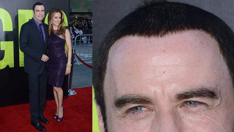 John Travolta's Wig Looked Really Good at the Savages Premiere