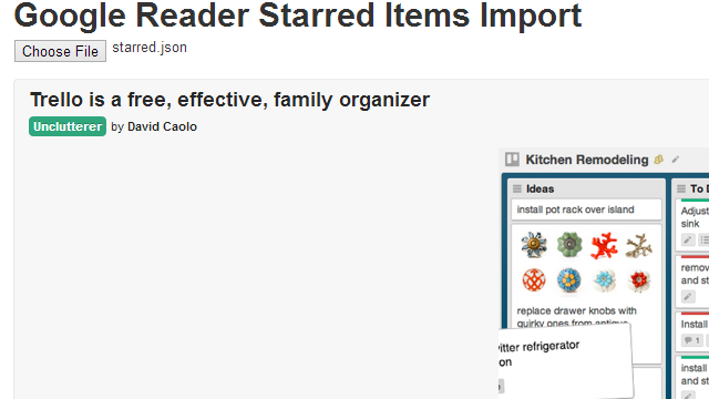Read Your Exported Google Reader Items With This Webapp