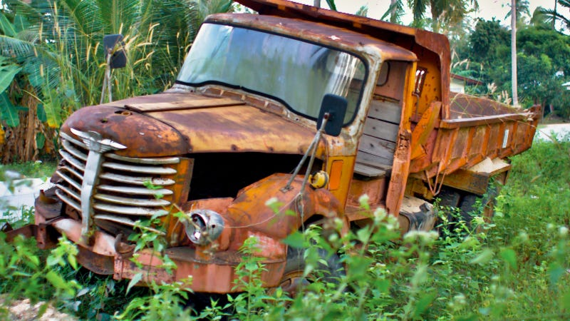 Dump Truck Decaying In Thai Jungle