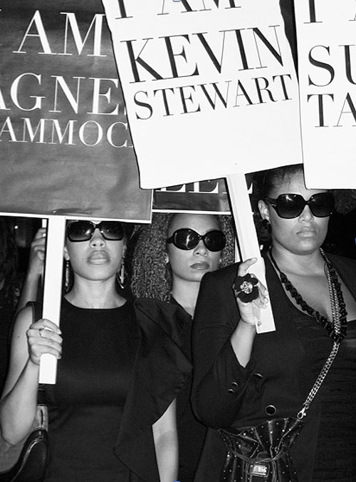 Black Women Stage A Quietly Fierce Demonstration At Fashion Week