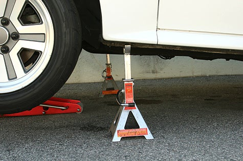 And You Will Know Us by the Trail of Parts: Using a Floor Jack and Jack Stands