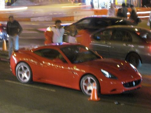 2009 Ferrari California Caught At San Francisco Photo Shoot