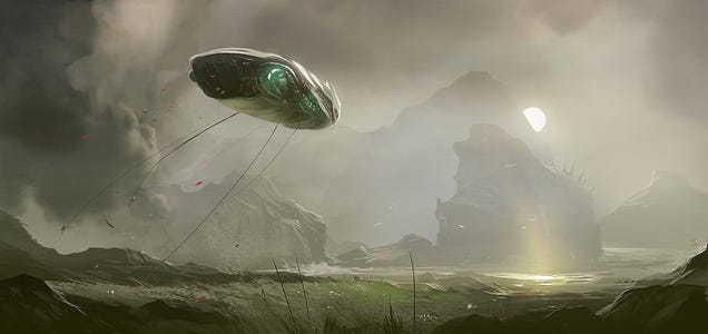 In Late Summer, the Alien Ships Gather Their Rare Flowers in Fog