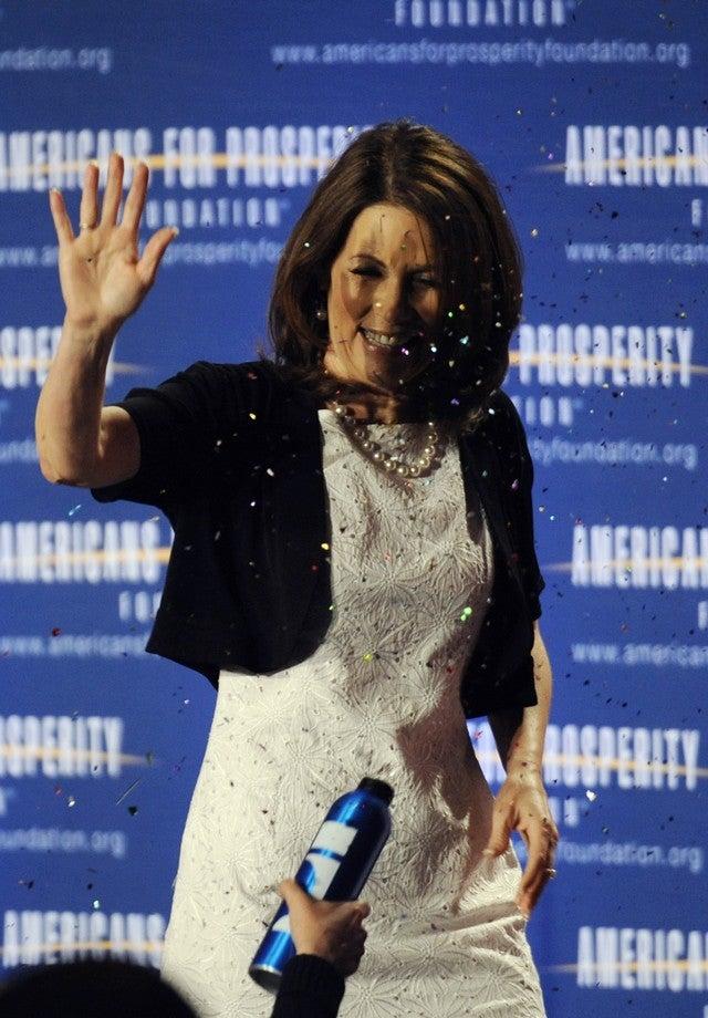 Michele Bachmann Glitterbomed