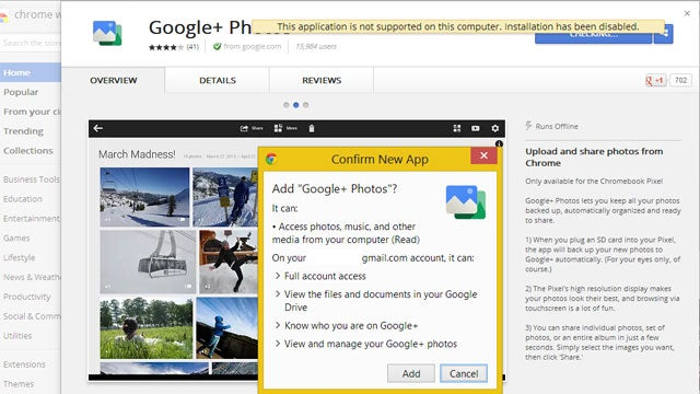 Trick Chrome into Installing the Google+ Photos App on Windows or Mac