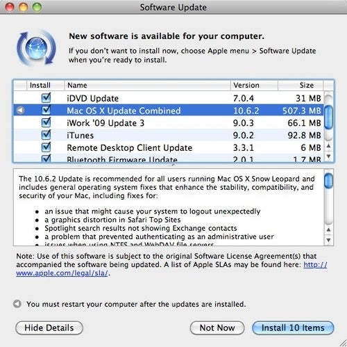 Snow Leopard 10.6.2 Fixes Account-Nuking Bug (And About 40 More)