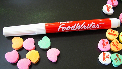 Personalize candy hearts for your Valentine