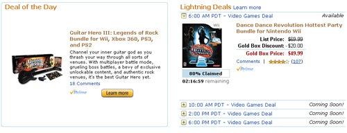 Amazon Rhythm Game Deals - GHIII $59.99