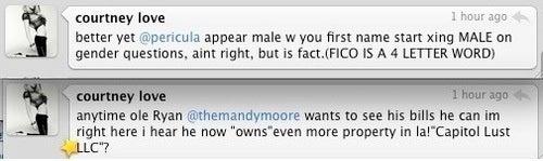 Courtney Love Leads Twitterati Meltdown