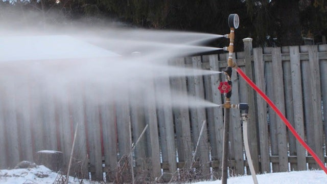 This DIY Snow Machine Provides Fresh Powder in the Backyard On the Cheap