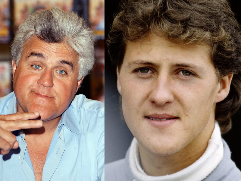 Separated at Birth: Jay Leno vs. Michael Schumacher