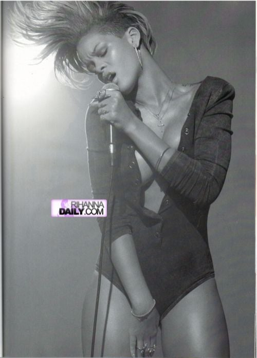 Rihanna Goes Topless For GQ's January 2010 Issue