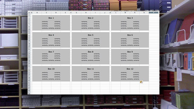 Use a Simple Spreadsheet to Track Items in Storage