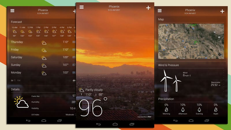 Yahoo Weather Finally Brings Its New, Beautiful Interface to Android