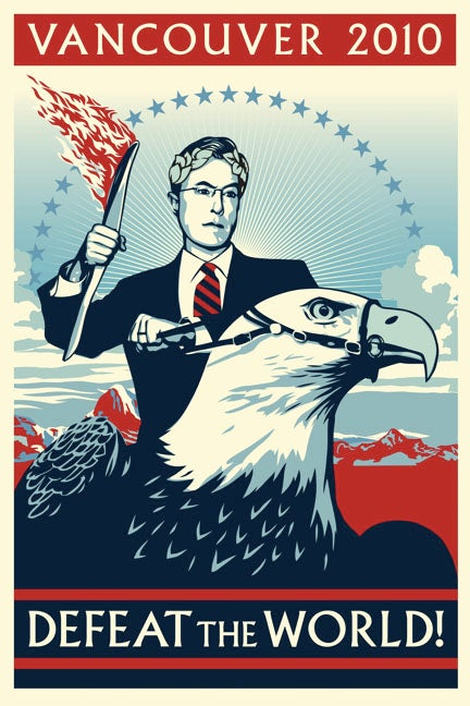 Shepard Fairey Made a Poster for Stephen Colbert