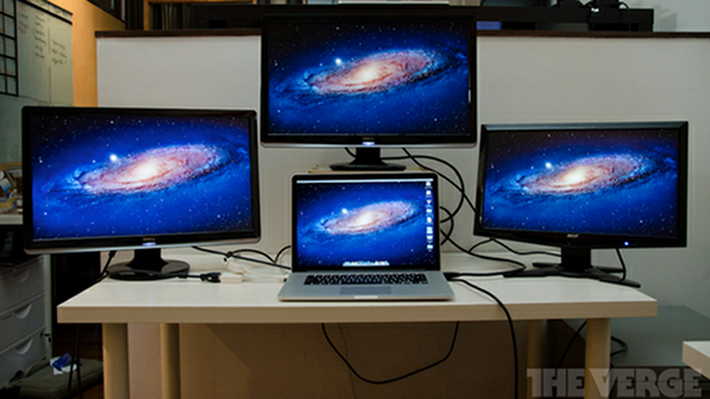 The Retina MacBook Pro Can Drive Four Screens Simultaneously