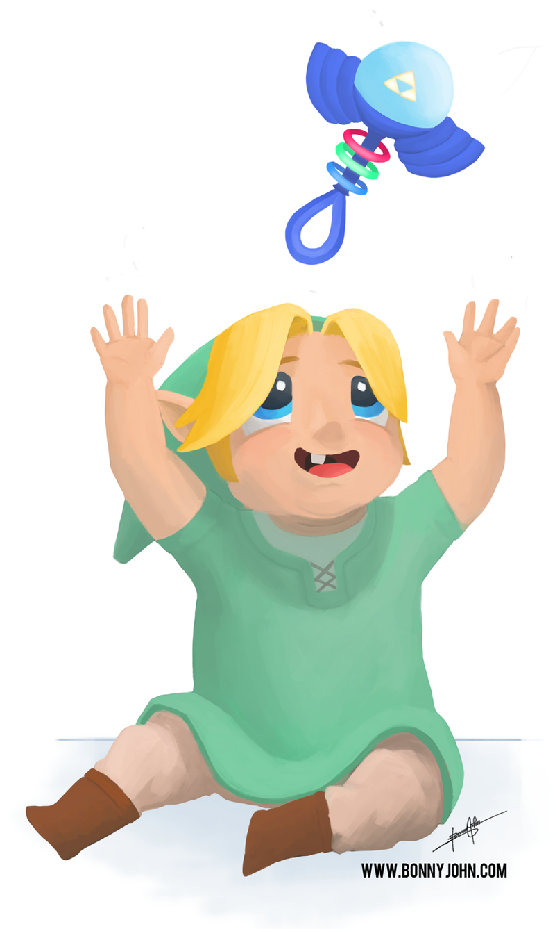 Forget Young Link...Let's take a look at Baby Link!