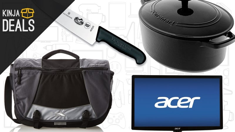Saturday's Best Deals: Cast Iron Cookware, $60 Monitor, 4K TVs, and More