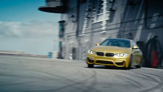 An Aircraft Carrier Makes The Ultimate Racetrack For The BMW M4