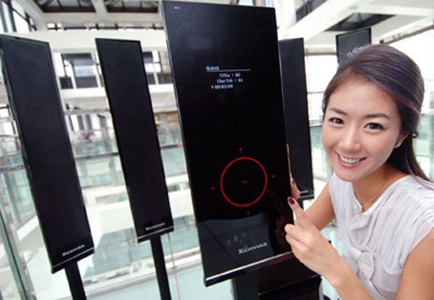 LG Chocolate HT972TR Home Theater System Looks Like an Overgrown Cellphone