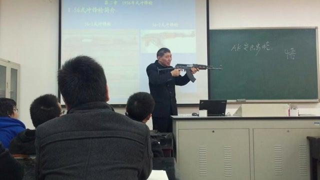 Your Homework? Machine Guns.