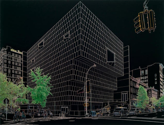 These Cool Architectural Pics Were Blacked Out With a Permanent Marker