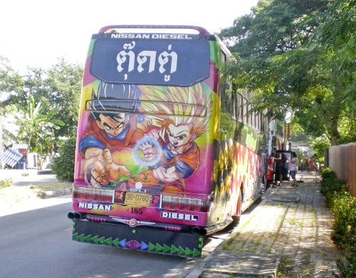 Nothing Says Nissan Diesel Like Thailand's Dragon Ball Bus