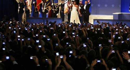 The Youth Ball Welcomes Obama with a Sea of Digital Cameras