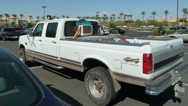 Pickup truck owner builds DIY rear window air conditioner