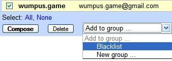 Blacklist unwanted senders in Gmail