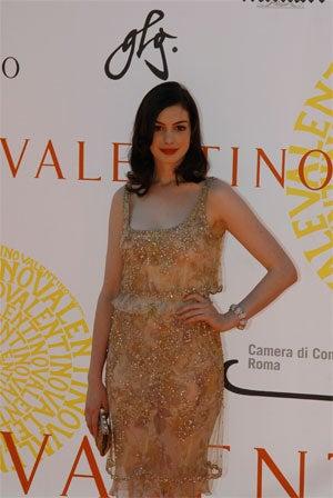 Anne Hathaway + Valentino = Kinda Awkward