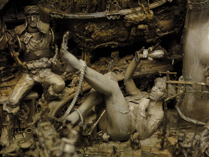 Kris Kuksi's Beautiful Art is Made From the Bones of Dead Model Kits