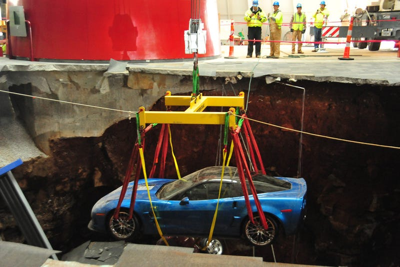 Check Out These Amazing Photos From The Corvette Sinkhole Recovery
