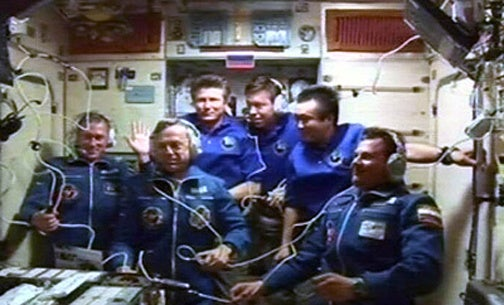 Smile: The First Six-Astronaut Crew Ever at the ISS