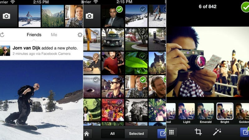 Facebook Camera, Clueful, and More