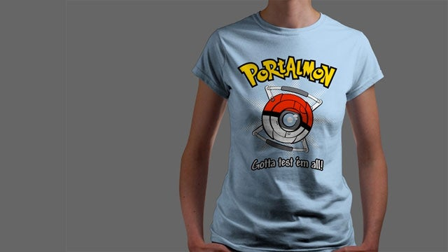 'Portalmon' Design Now a Catchable, Testable T-Shirt [Updated]