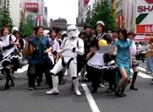 Stormtrooper Dances from the Dark Side to Disco