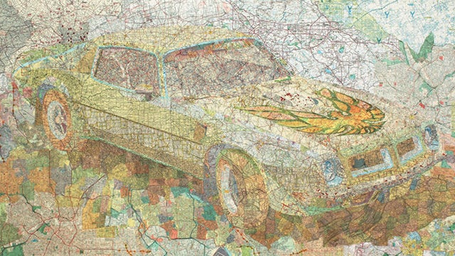 Matthew Cusick's Map Collages Are Stunning to See