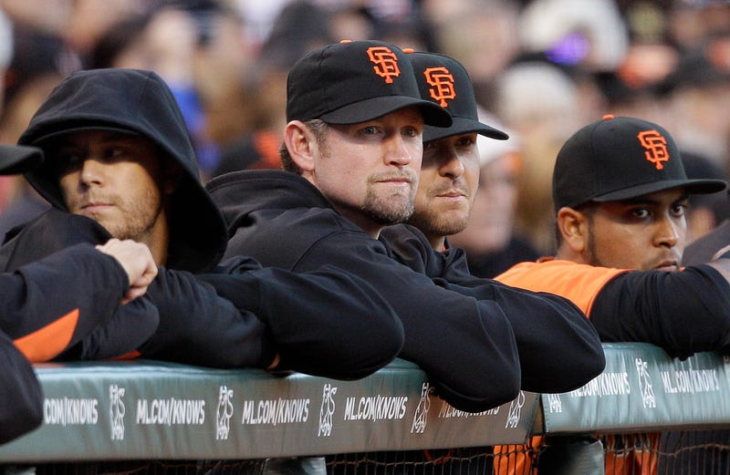 Aubrey Huff Hurt Himself Celebrating Matt Cain's Perfect Game