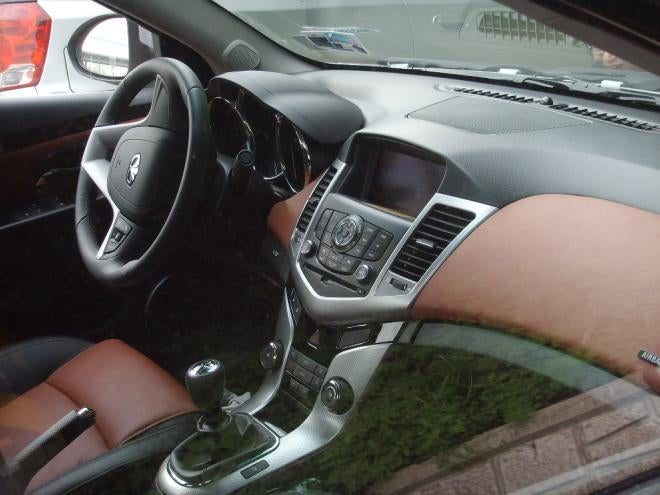 Chevy Cruze Interior Shot Shows Off Curvaceous Two-Tone Dash