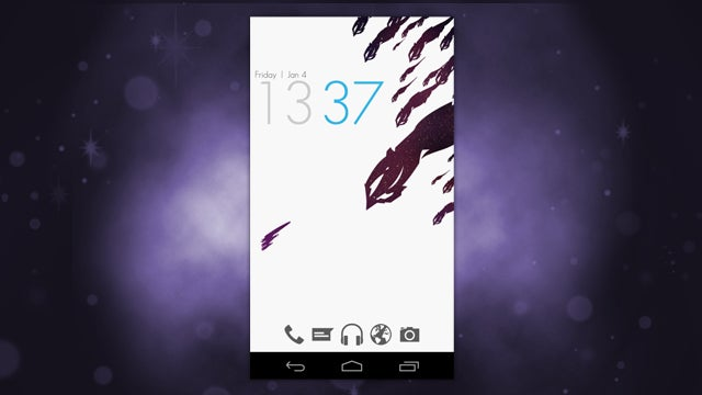 The White Space Home Screen