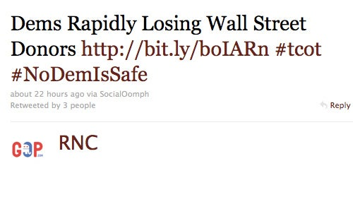 RNC Brags About Taking in More Wall Street Donations