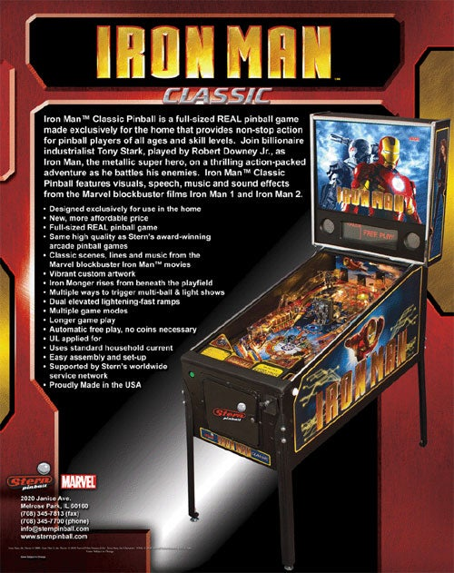 America's Last Pinball Machine Maker Bringing Iron Man Home