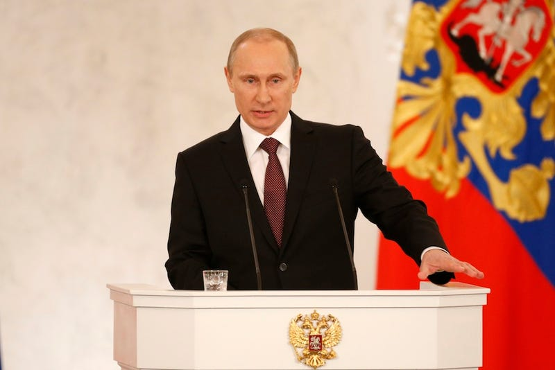 "Putin Says Crimea Was ""Stolen"" From Russia, Signs Annexation Treaty"