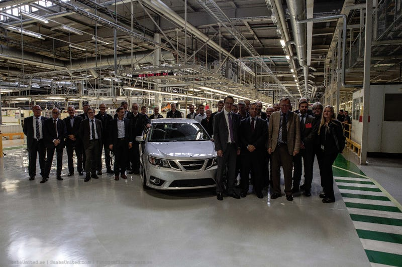 The First New Saab Just Rolled Off The Assembly Line In Sweden